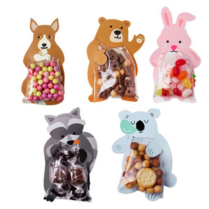 Wholesale baby shower greeting cards for sale - Group buy Cute Animal Bear Rabbit Candy Bags Cookie Bags Gift Greeting Cards Baby Shower Birthday Party Candy Box