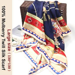 Free Shipping 100% Mulberry Silk 130*130 large size New Arrival Elegant Handmade 100% Twill Silk Scarf Twill Silk Maternity Shawl