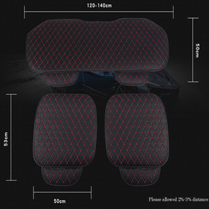 PU Leather Car Seat Cover Breathable Leather Pad Mat for Auto Chair Cushion Front Rear Seat Cover 3PCS