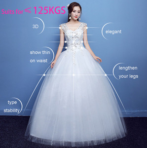 Wholesale Plus size New Arrival V neck beads ball gown empire wedding dress floor length lace-up back sleeveless dress maternity pregnant wedding gown