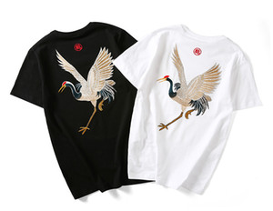 Wholesale Man s embroidered t shirts summer short sleeved Tops casual clothing Chinese style fashionable Street hip hop Tee R1M810TS
