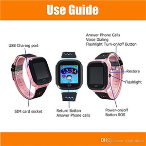 Wholesale Cute Sport Q528 Kids Tracker Smart Watch with Flash Light Touchscreen SOS Call LBS Location Finder for kid Child PK Q50 GPS tracker