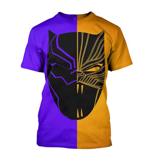 Wholesale 3D T Shirt Short Sleeve Super Cool Brand Clothing Printed Cotton Shirts T shirt Men Women T shirts styles Black Panther Tee