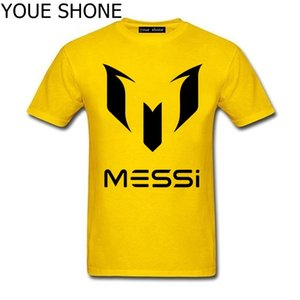 Wholesale Lionel Messi T Shirts Barcelona Men s Short sleeve Shirt Messi funny cotton tshirt World Cup Argentina fans Top Tees
