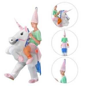 Inflatable Unicorn Costume Blow Up Suit Birthday Dress Cosplay Outfit Adult Kids Party Unicorn Costume Party Supplies CCA10490 3pcs