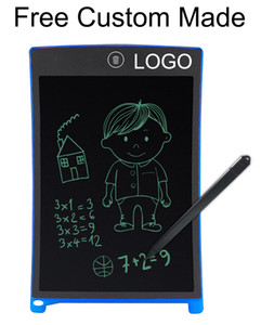200pcs Freely Custom Made LOGO 8.5inch Writing Tablet Handwriting Pad Digital Drawing Board Graphics Paperless Notepad Upgraded Pen