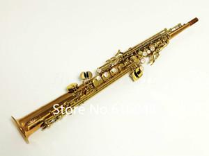 YANAGISAWA S-WO2 S-902 Straight Pipe Soprano Saxophone B Flat Professional Gold plated Sax With Mouthpiece Music Instruments