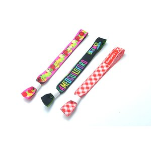Wholesale Custom Printed Sublimation Fabric Wristbands Ribbon Fabric Straps Polyester Bracelets Adjustable Party Festival Events Wrist Bands