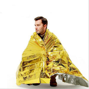 Wholesale Outdoor Water Proof Emergency Survival Rescue Blanket Foil Thermal Space First Aid Sliver Rescue Curtain gold silver color army pads