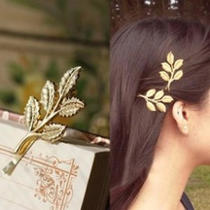 Wholesale 1pc New Athena Olive Branch Leaves Hair Ornaments Only Beautiful Bride Hair Clips For Ladies Gifts Elegant Accessories