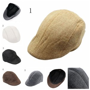 New arrival Mens Vintage Herringbone Flat Cap Boy Male Durable Sports Peaked Riding Hat Beret Country Golf Hats Caps 1PC