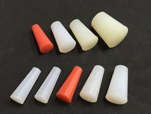 Silicone Rubber Cone Tapered Stopper Plugs Powder Coating Paint 1.6*4.75*15.88 (length unit: mm)