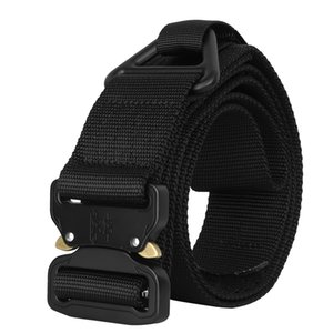 Wholesale Tactical Belt quot cm length Adjustable D Nylon Web Belt Heavy Duty Riggers Belt with Quick Release Metal Buckle and V ring