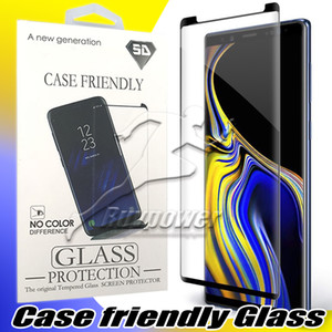 Wholesale For Samsung Galaxy S10 S10E Note Plus S9 Note S8 Case Friendly Tempered Glass Screen Protector with Package