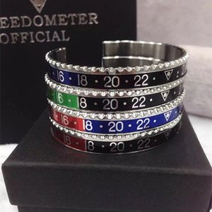 2017 High quality speedometer stainless steel silver cuff decals marine bangle bracelet for men and women
