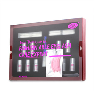 wimpern perme großhandel-Eyelash Perm Kit Wimpern Lift Perming Curling bis zu Permanent Lotion Komplettlösung Set Beauty Makeup Tools