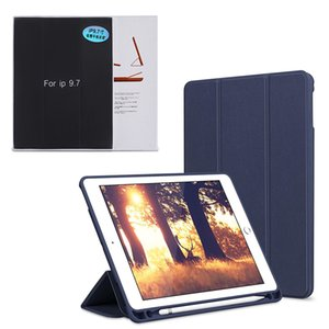 For iPad Pro 9.7 10.5 2018 2017 Air Smart Leather Case with Pencil Holder Silicone Soft Cover Auto Sleep Wake Case on Sale