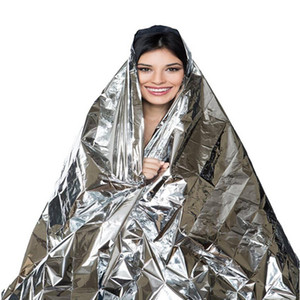 Wholesale 210 CM Water Proof Emergency Survival Rescue Blanket Foil Thermal Space First Aid Sliver Rescue Curtain Outdoor