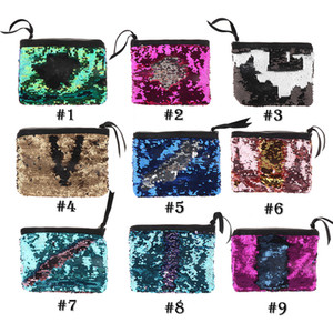 Sequin Glitter Waist Makeup Pack Belt Bum Bag Pouch Mermaid Sequin Purse bag Pouch pocket Clutch Sequins waist Hand bag