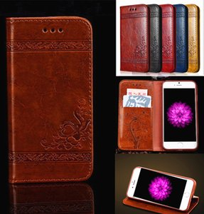Wholesale New Leather Embossing Wallet Classic Retro Flip Skin Phone Case with Card Slot Pocket for iPhone X Samsung Note8 S9 S8 Plus S7 edge