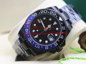 Wholesale steel suppliers resale online - Factory Supplier High Quality mm Asia Automatic Mechanical Stainless Steel Blue Black Ceramic GMT Mens Watch Watches