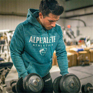 2018 New Hot Men Hoodies Sweatshirts High Quality ALPHALETE Printing Hoodie Fitness Bodybuilding Brand Clothes Cotton 3 Color