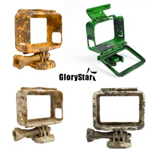 Plastic Protective Housing Case Cover Action Camera Camouflage Protection Border Frame Box for Go Pro Hero 5 Gopro Accessories