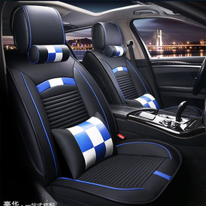 Universal Fit Car Interior Accessories Seat Covers For Sedan PU Leather Adjuatable Five Seats Full Surround Design Seat Cover For SUV