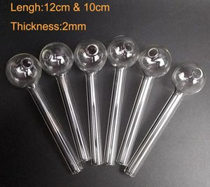 Wholesale Glass Oil Burner Pipes Clear 12 cm 10 cm Straight Tube for Water Smoking Pipe Oil Rig Hookah Glass Bongs Clear Pyrex Pipe