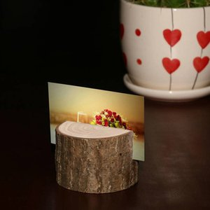 Wholesale Cute Tree stump craft place card holder Rustic style seat folder photo clip Wedding natural wooden decorate