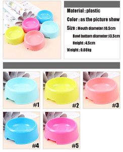 Wholesale 2018 NEWEST Pet Dog Cat Candy Bowl Pet Bowls Cat Dog Basin Puppy Feeding Supplies Plastic Portable Circular Bowls