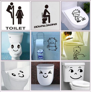 Wholesale 2018 waterproof bathroom toilet sticker door glass stickers wall decal home decoration art pvc posters