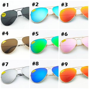 High Quality Classic Pilot Sunglasses Designer Brand Mens Womens Sun Glasses Eyewear Gold Metal Green 58mm 62mm Glass Lenses black Case on Sale