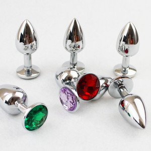 Wholesale Size S Crystal Jewelry Stainless Steel Sex Anal Plug G Spot Stimulating Metal Butt Plugs Booty Beads Sex Toys