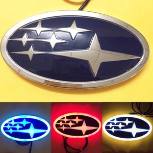 Wholesale Newest Design D Stylish LED logo decoration Badge Emblem Light for Subaru Forester Legacy XV Red White Blue option