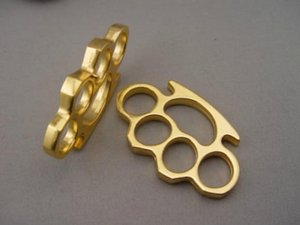 NEW Iron GILDED THICK STEEL BRASS KNUCKLE DUSTER