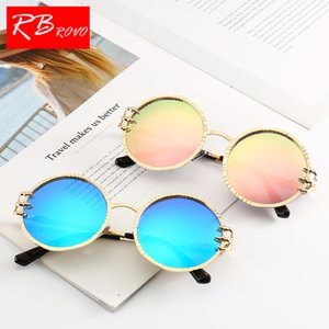 Wholesale New Round Sunglasses Women Alloy TAC Lens Lady Spectacles Gafas De Sol Mujer Fashion Street Shoot Sun Glasses Woman