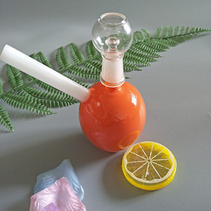 Wholesale orange bongs for sale - Group buy New design orange pipe oil rig glass bong glass smoking pipe glass water pipe GB