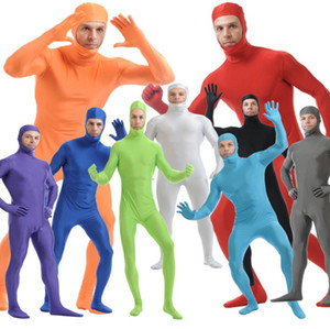 Wholesale SOF013 Lycra Spandex Full Body Fetish Zentai Skin Tights Unisex Bodysuit Cosplay Costume Unitard Jumpsuit Dancewear