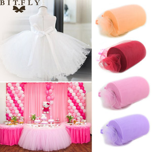 Wholesale DIY Apparel Sewing Fabric inch yard Tulle Roll Spool Fabric Tutu DIY Skirt Gift Craft Party Bow Tulle Rolls Wedding Party