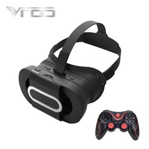 Wholesale New RITECH VRGO Virtual Reality VR Box VR Glasses for Smartphone Inch Phones D Movies Games with Bluetooth Gamepad