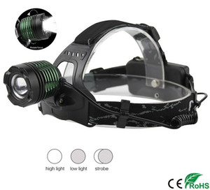 Wholesale XM L T6 LED Zoomable Headlamp Flashlight Modes Light Switches Adjustable Hunting Headlight Portable Flashlight Fishing Head Torch car