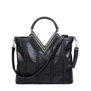 Wholesale ONEFULL NEW FASHION pu leather shoudler bag women zipper patchwork simulated diamonds casual work business formal shoulder bags