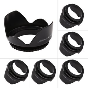 camera hoods 52 55 58 62mm 67mm Professional Camera Hood Flower Shape Screw Mount Lens Hood Shade Light Shield Sunshade Protector
