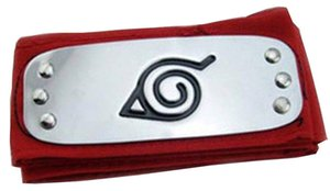 Anime Naruto Headband Leaf Village Logo Konoha Kakashi Akatsuki Members Cosplay Costume Accessories blue red black
