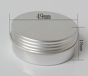 Wholesale pack g Empty Aluminum Jars Refillable Packaging Containers Screw jar jar cap