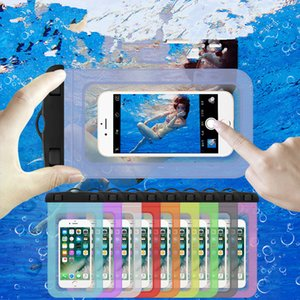 Wholesale Universal swim waterproof phone pouch cover for iPhone X Samsung S8 waterproof case cases Bag