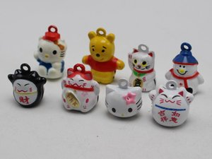 Wholesale 10 Assorted Cute Animal Cat Bear Snowman Jingle Bells Charms Dog Cat Pet Pendant