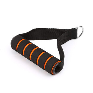 OOTDTY D-ring Spring Pull Rope Cable Bar Elastic String Foam Handle Fitness Equipment