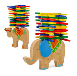 Wholesale Wooden Puzzle Stacking Building Blocks Elephant Camel Balance Board Table Game Balancing Toy Educational Gift For Kids